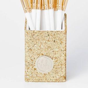 NWOT glitter brush holder